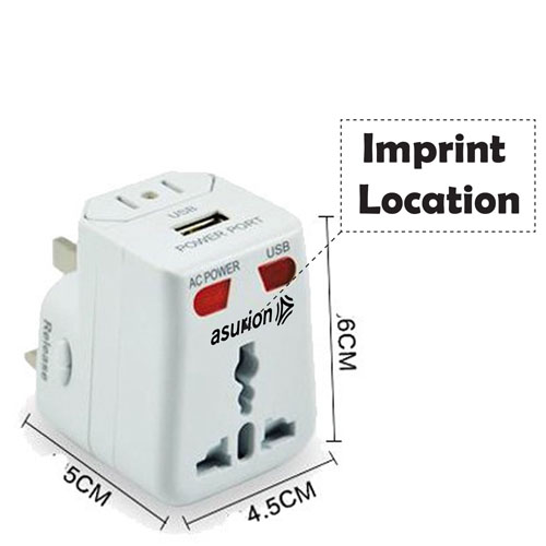 Travel Adapter USB Charger Converter Plug Imprint Image