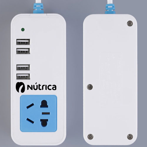 1.5M Socket 4-Port 4 USB Hub Charger
