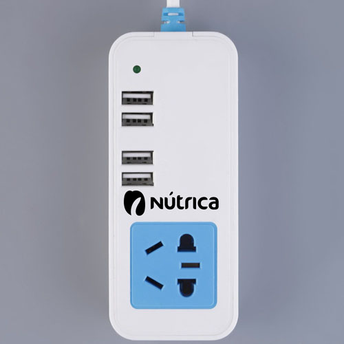 1.5M Socket 4-Port 4 USB Hub Charger Image 1