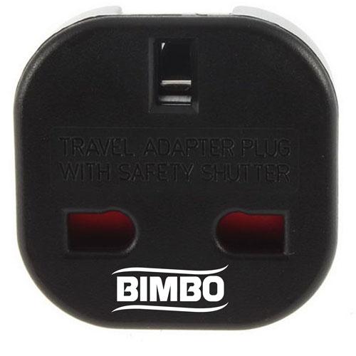 Travel Plug Adapter UK AU EU to US Converter Image 3