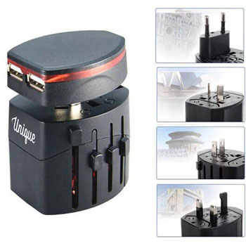 Travel Adapter Dual-USB Port Charger
