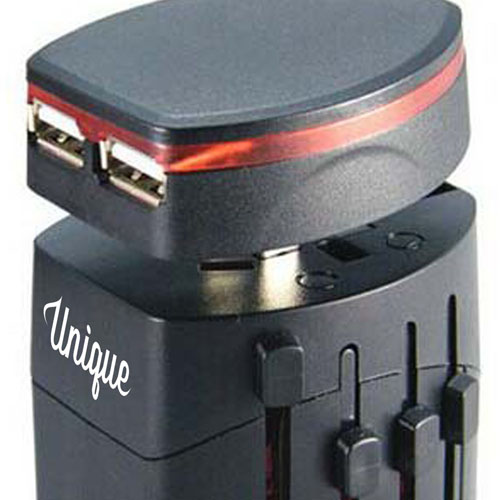 Travel Adapter Dual-USB Port Charger Image 3