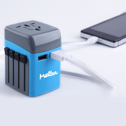 Travel Adapter With Usb Port Usb Charger Image 3