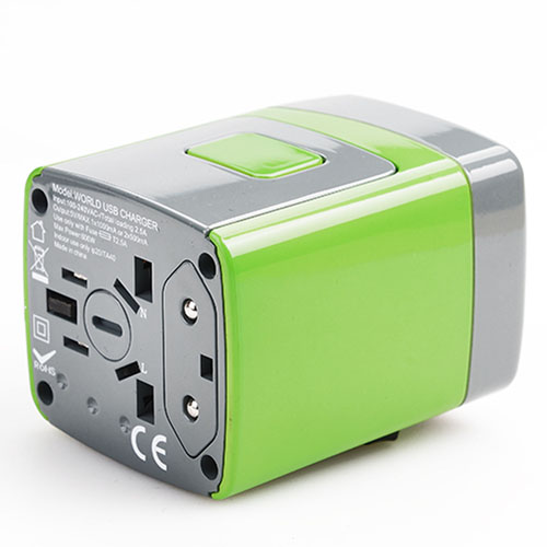 Travel AC Power Adapter Converter 2 USB Port  Image 1