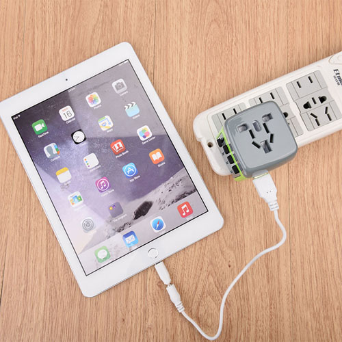 Travel AC Power Adapter Converter 2 USB Port