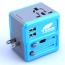 All In One 2 USB Port Travel AC Charger Adaptor Image 1