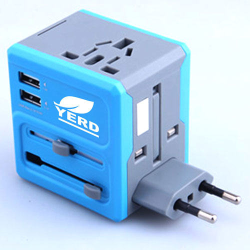 All In One 2 USB Port Travel AC Charger Adaptor Image 2