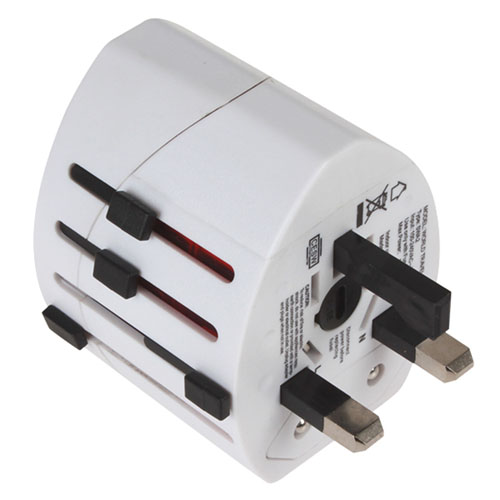 2 USB Port World Travel AC Power Charger Adapter Image 3