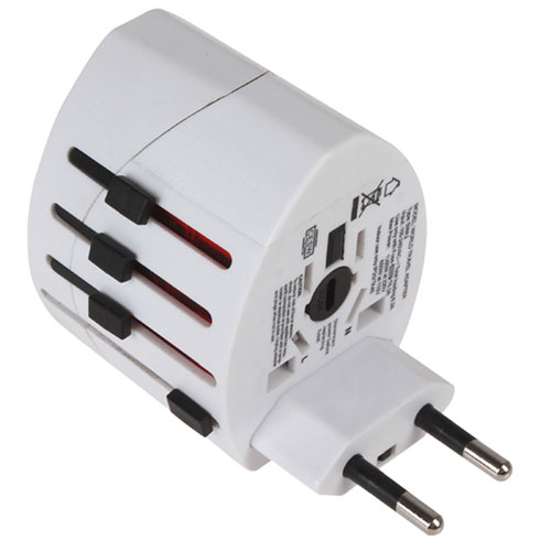 2 USB Port World Travel AC Power Charger Adapter