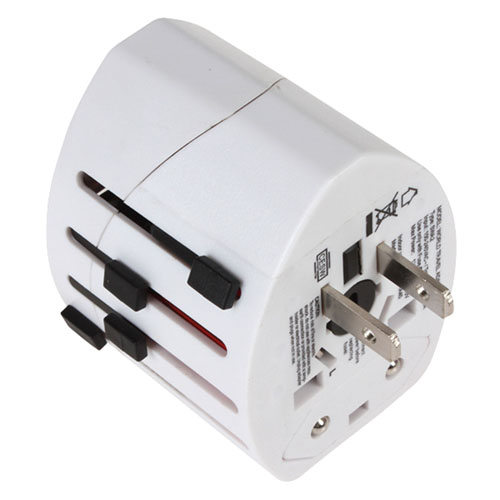 2 USB Port World Travel AC Power Charger Adapter Image 5