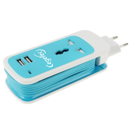 2 USB Charger Adaptor Plug AC DC EU Plug Image 4