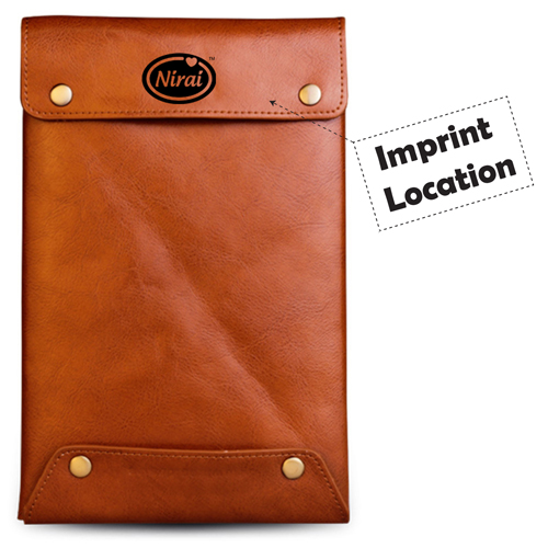 Genuine Cow Leather Case Cover Sleeve Imprint Image