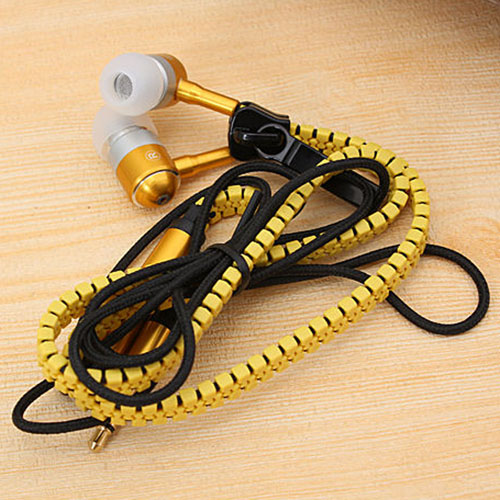 Metal Zipper Earphone Headphone Image 3