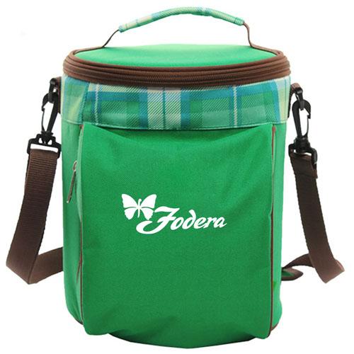 Portable Drum Shaped Thermal Shoulder Bag Image 2