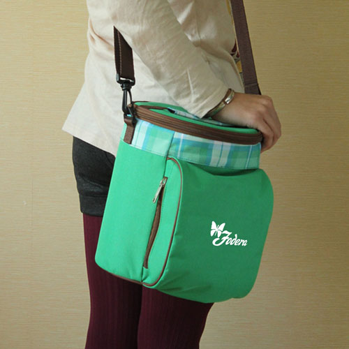 Portable Drum Shaped Thermal Shoulder Bag Image 5