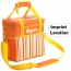 Thermal Fashion Stripe Cooler Bag For Kids Imprint Image