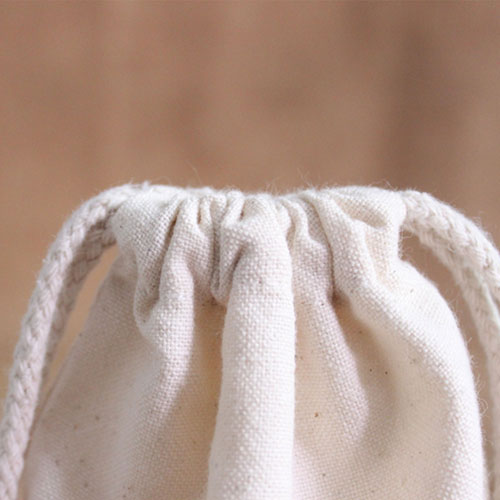 Cotton Canvas Drawstring Custom Logo Bag Image 2