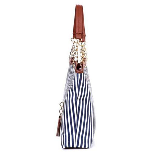 Women Handbags With Tassels Gold Chain Image 4