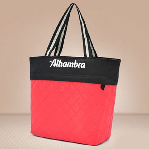 Women Patchwork Cotton Tote Shopping Bag Image 2