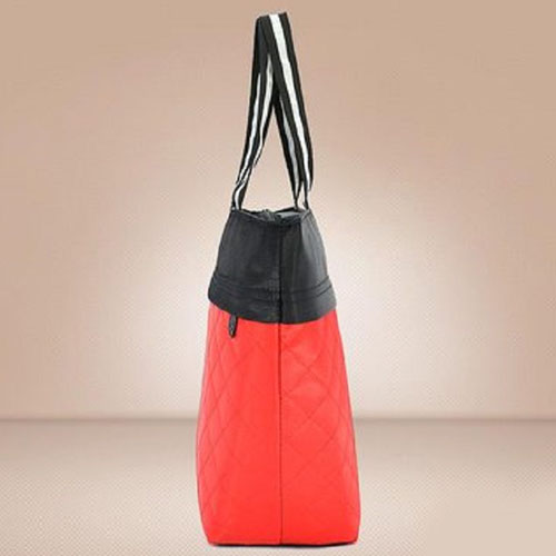 Women Patchwork Cotton Tote Shopping Bag Image 3