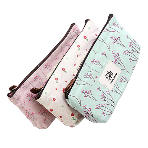 Floral Pencil Pen Case Cosmetic Storage Pouch  Image 1