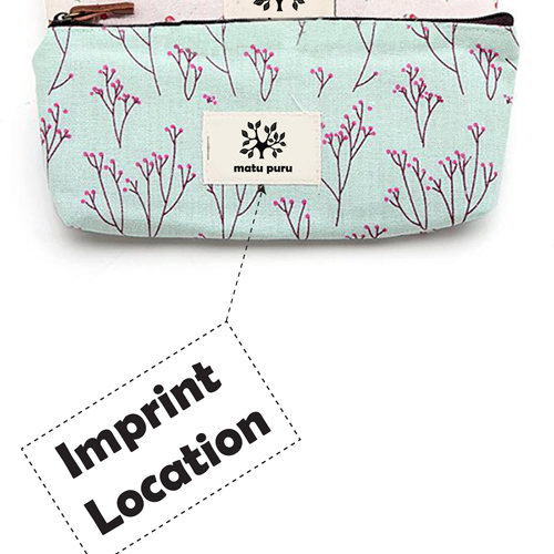 Floral Pencil Pen Case Cosmetic Storage Pouch  Imprint Image