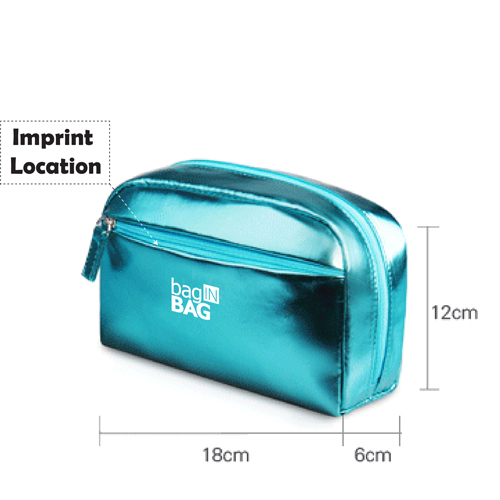 Large Capacity Women Cosmetic Handbag Imprint Image