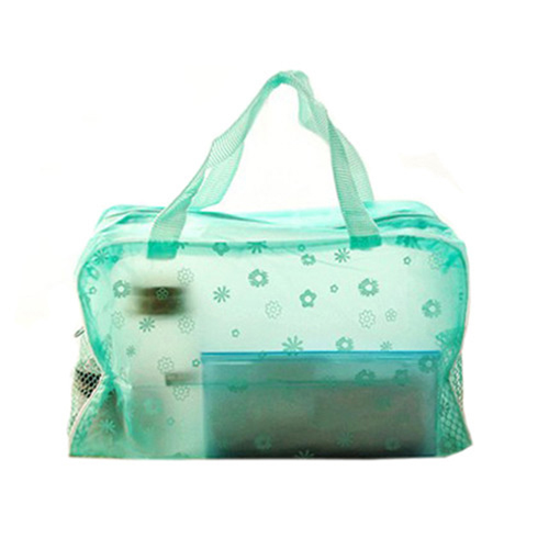 Transparent Cosmetic Toiletry Bathing Pouch Image 1