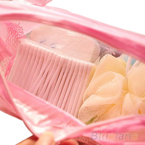 Transparent Cosmetic Toiletry Bathing Pouch Image 2
