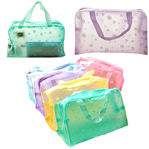 Transparent Cosmetic Toiletry Bathing Pouch Image 5