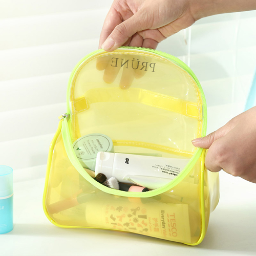Toiletry Makeup Organizer Transparent Pouch Image 1
