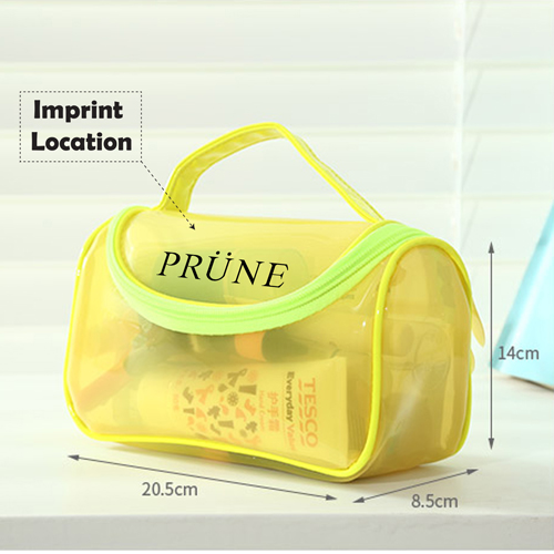 Toiletry Makeup Organizer Transparent Pouch Imprint Image