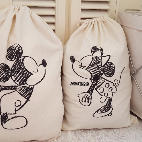 Cartoon Printing Laundry Storage Bag Image 1