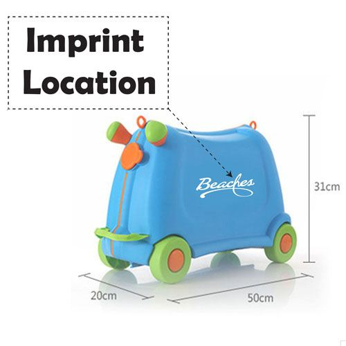 Baby Toy Car Ride Sit Suitcase Imprint Image
