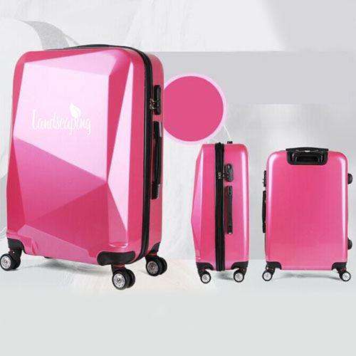 Diamond Cut Surface Travel Luggage