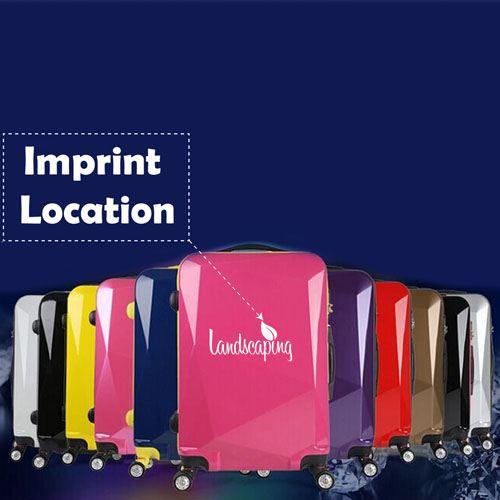 Diamond Cut Surface Travel Luggage Imprint Image