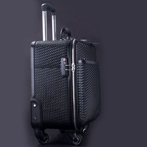 Wire Wheels Travel Luggage Bag Image 1