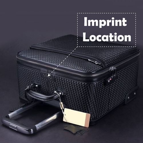 Wire Wheels Travel Luggage Bag Imprint Image