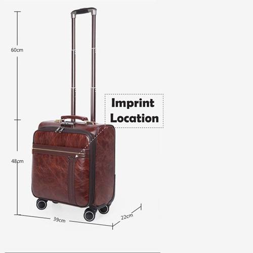 Business 4 Wheel luggage Suitcase Imprint Image