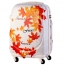 Excellent 3D Cut Leafs Trolley Suitcase