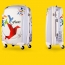Excellent 3D Cut Leafs Trolley Suitcase Image 1