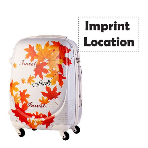 Excellent 3D Cut Leafs Trolley Suitcase Imprint Image