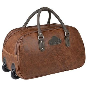 Horse Leather Trolley Travel Bag