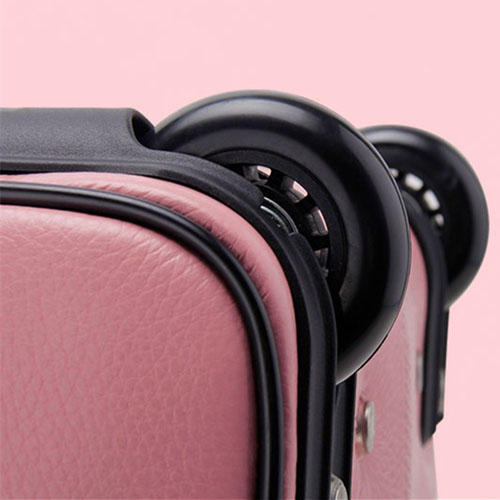 Portable Genuine Leather Trolley Suitcase Image 3