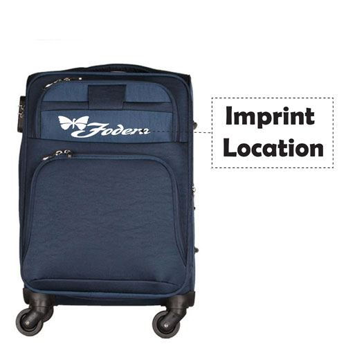 Spinner Suitcase Canvas Luggage Imprint Image