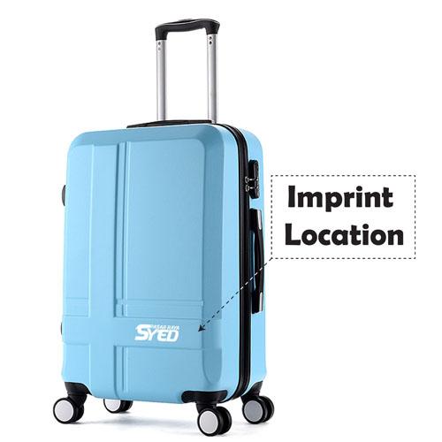 Hardside Luggage Trolley Suitcase Imprint Image
