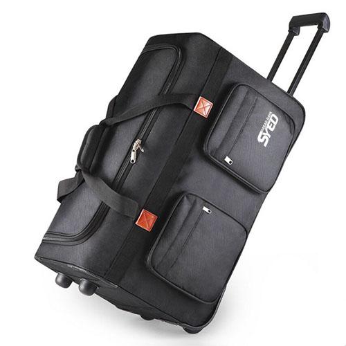 Oxford Wheel Luggage Trolley Bag