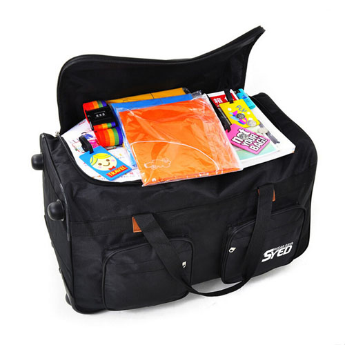 Oxford Wheel Luggage Trolley Bag Image 2