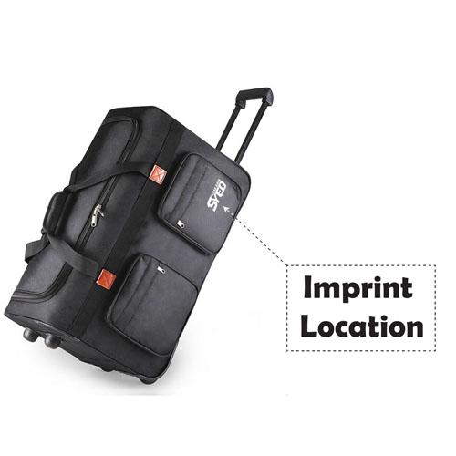 Oxford Wheel Luggage Trolley Bag Imprint Image