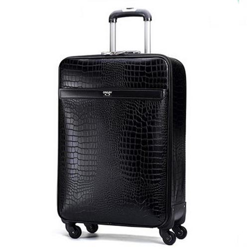Leather Business Casual Wheels Luggage Image 1